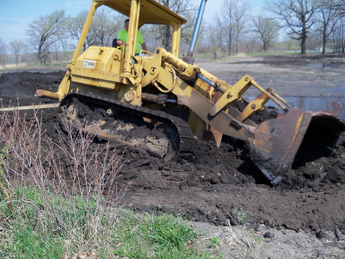 Moving a lot of dirt while digging a pond